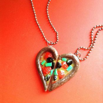 Pizza Heart Necklace by BlakeSWAG