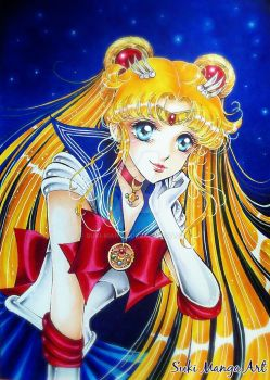 Always thinking of you, Sailor moon fan art by Suki-Manga