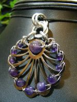 OOAK amethyst salvage piece by BacktoEarthCreations