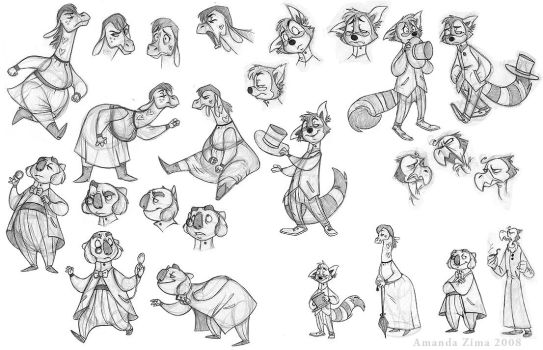 Victorian characters by moonmystique