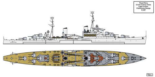 Design K-25F Light Cruiser by Tzoli