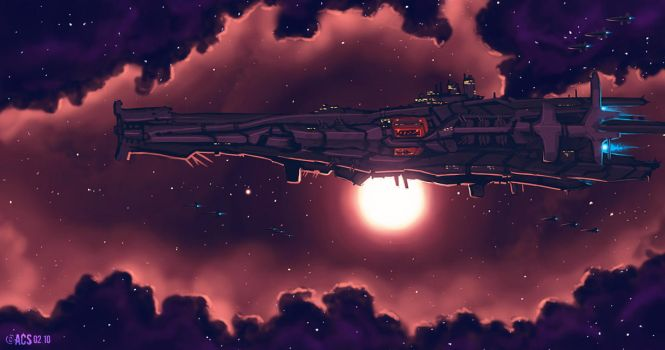 Carrier Battle Cruiser by Shimmering-Sword
