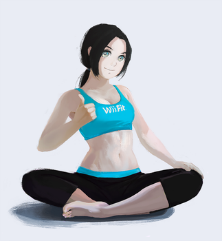 Wii fit trainer by MoritoAkira