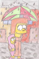 Lisa and Maggie's Rainy Day by MarioSimpson1