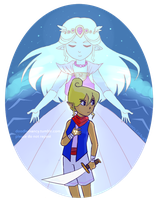 Tetra and the Sea: Night by doodlemancy