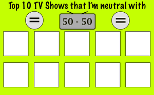 Top 10 TV Shows that you're neutral with Meme by FireMaster92