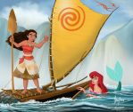 ARIEL MEETS MOANA by FERNL