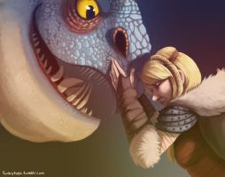 Astrid and Stormfly by fUnKyToEs