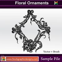 Floral Ornaments Brush by Stockgraphicdesigns