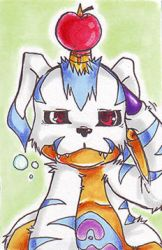 ACEO 12 - Gabumon by LazyBasy