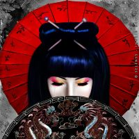 Sadness of a Geisha by Selenys
