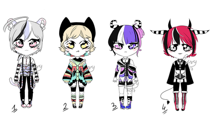 kemonomimi adoptable batch OPEN by Ovxy