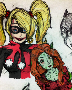Harley Quinn and Poison Ivy by Jonah-yeoj