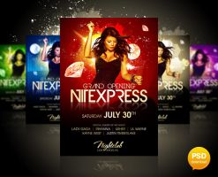 Nitexpress Party Flyer by Party-Flyer