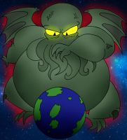 COM Fat Cthulhu ready to destroy the world by Robot001