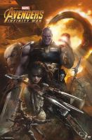 New Avengers: IW Thanos and the Black Order Poster by Artlover67