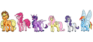 MLP's Mane 6 by Valo-Son