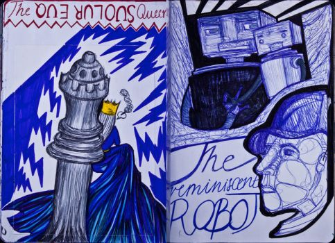 The Sketchbook Project 2013 - Q and R by Nakilicious