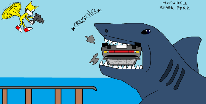 Hot Wheels Shark Park attack by RagingBullet