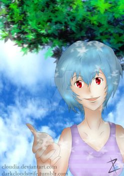 Rei Ayanami by Cloudia