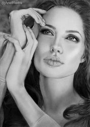 Angelina Jolie Portrait by riefra