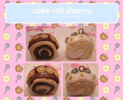 cake roll charms by MiniatureTemptations