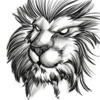 lion by InkFable
