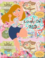 Lovely Girl PSD by silly-luv
