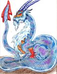 Blue dragon by Twylyght99