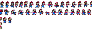 Mario Megaman Style sprite sheet by IcePony64