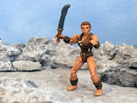 3D printed cavewoman action figure 3 3/4 inch C by hauke3000