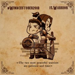 Winkcestober 2018 day 15: Warrior by KamiDiox
