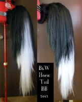 B and W Horse Tail by Magpieb0nes