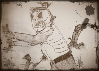 SKETCH- 'Fighting The Revenant' by teambrownie1