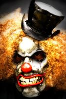 Clown Mask with Top Hat by OsborneArts