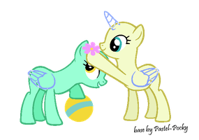 Here's a stupid flower for ya - MLP Base by Pastel-Pocky