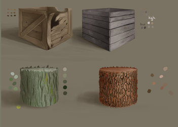 Material Study 1 - Wood by pixg