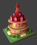 Voxel Ponyville Town Hall by Pirill-Poveniy