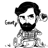mr mc GRUMPS sittin on a sTuMP by temporaryWizard