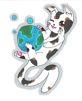 Just a kitten plays with the world :D by Hirotaka666
