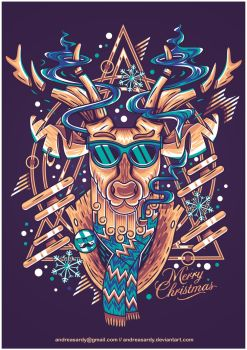 x-mas deer by andreasardy