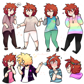 Billy G Fashion Doodle Dump by MimiMarieT