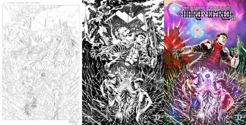 Hard Wyred Issue 3 Cover Process by ZUCCO-ART