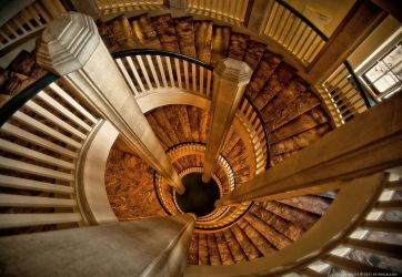 Staircase in the Castle by pingallery
