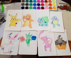 Pokemon Watercolors by thnksfrthwilliam