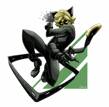 [Speedpaint] Chat Noir! by CPTBee