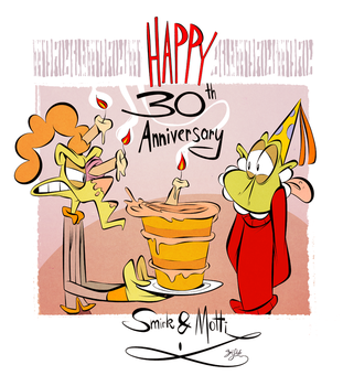 Happy 30th Birthday Motti and Smirk by Themrock
