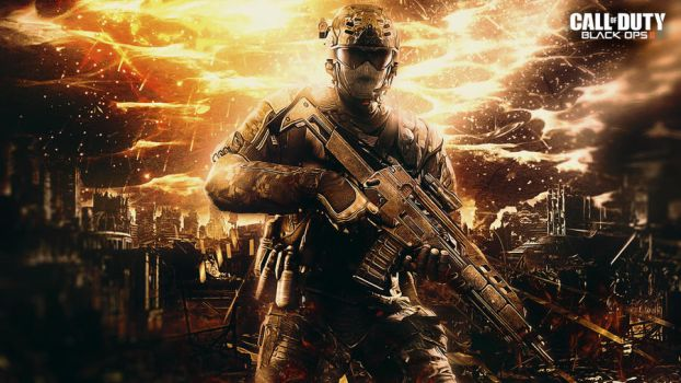 Call of duty Black Ops 2 Wallpaper by TheSyanArt