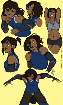 Korra Sketches by blindbandit5