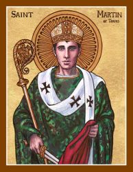 St. Martin of Tours icon by Theophilia